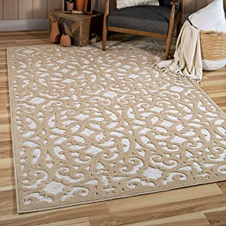 product image for Orian Rugs Sculpted 4701 Indoor/Outdoor High-Low Debonair Driftwood Area Rug, 9' x 13', Tan