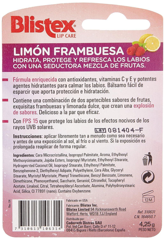 Blistex - Protector labial - Limón Frambuesa - 4.25 g - [paquete de 6]: Amazon.es: Salud y cuidado personal