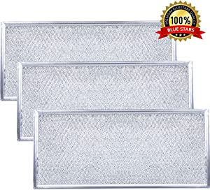 "Ultra Durable W10208631A Filter Aluminum Mesh Microwave Grease Filter Approx. 13"" x 6"" by Blue Stars - Exact Fit for Whirlpool & Maytag Microwaves - Replaces AP5617368, W10208631 - Pack Of 3"