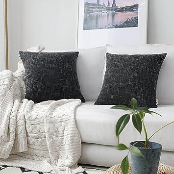 Amazon.com: Kevin Textile Star - Funda de cojín de lino ...