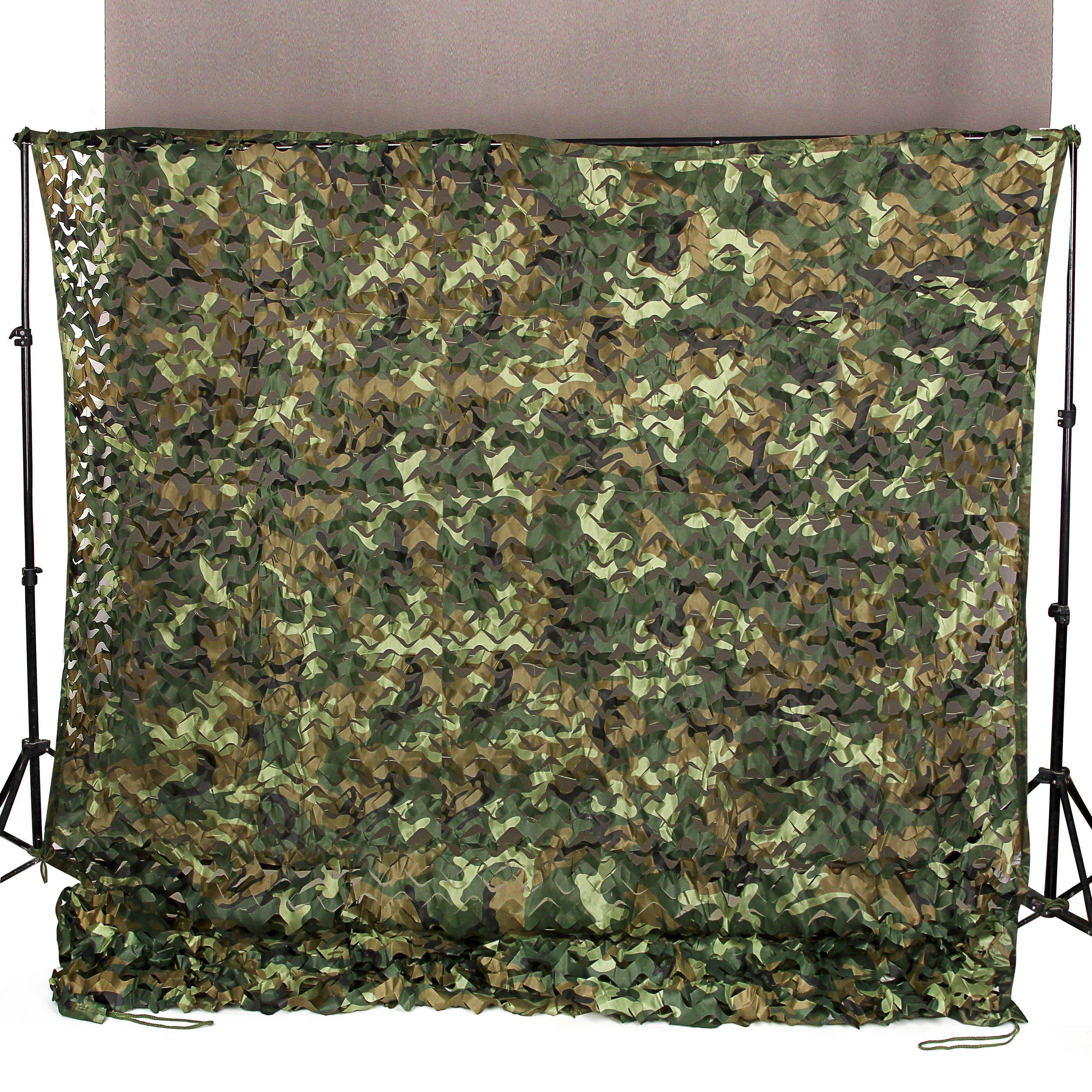 Ginsco 6.5ft x 10ft 2mx3m Woodland Camouflage Netting Desert Camo Net for Camping Military Hunting Shooting Blind Watching Hide Party Decorations by Ginsco
