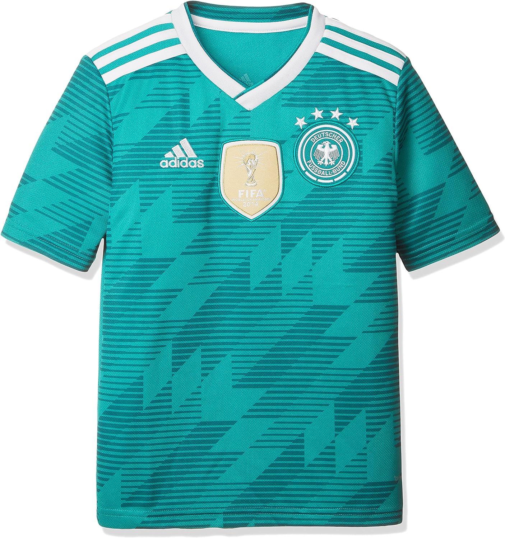 adidas Germany Away Replica Jersey Camiseta Cuello de Pico Manga Corta Poliéster - Camisas y Camisetas (Camiseta, Niños, Masculino, Verde, Blanco, Estampado, Baby (Height)): Amazon.es: Ropa y accesorios
