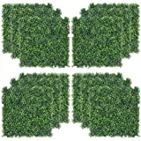 Sunnyglade 12PCS 20x20inch Artificial Boxwood Panels Topiary Hedge Plant, Privacy Hedge Screen UV Protected for Outdoor…