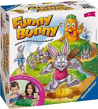 Ravensburger 21330 Funny Bunny Kids Edad 4 años en adelante, un Divertido y rápido Juego Familiar Que Puedes Jugar una y Otra Vez: Amazon.es: Juguetes y juegos