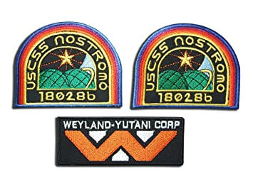 Patches Set of 3 Automotive Covenant Crew Wings Weyland Corp Crew Uniform Alien Movie Cosplay Patches By Titan One Europe