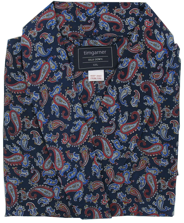 Pyjamas4You Men\'s Silk Dressing Gown - Blue Paisley Design: Amazon ...