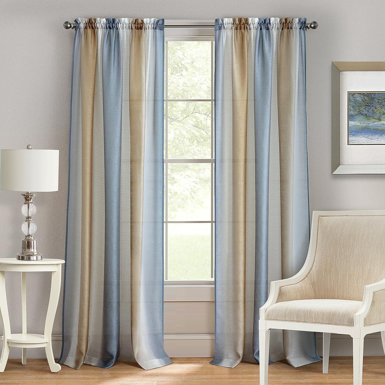 Achim Home Furnishings Spectrum Rod Pocket Window Curtain Panel, 50
