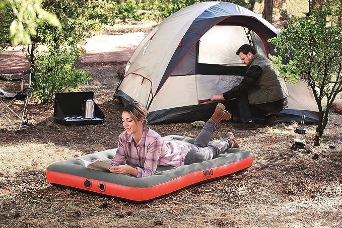 188x99x22 cm Pavillo Roll /& Relax Einzelbett Luftbett mit Kissen-//Kompressionspumpe Gr/ün