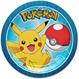 American Greetings Pokémon 8 甜点圆形盘子,小号,8 只装,甜点盘子 1 months to 180 months 甜点盘子 8-Count 甜点盘子
