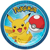 American Greetings Pokémon 8 Count Round Tableware, Dessert Plates
