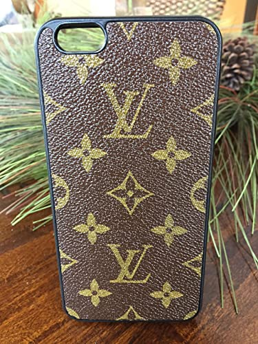 watch 192c6 6410e Handmade iPhone 6 plus case covered with repurposed Louis Vuitton canvas