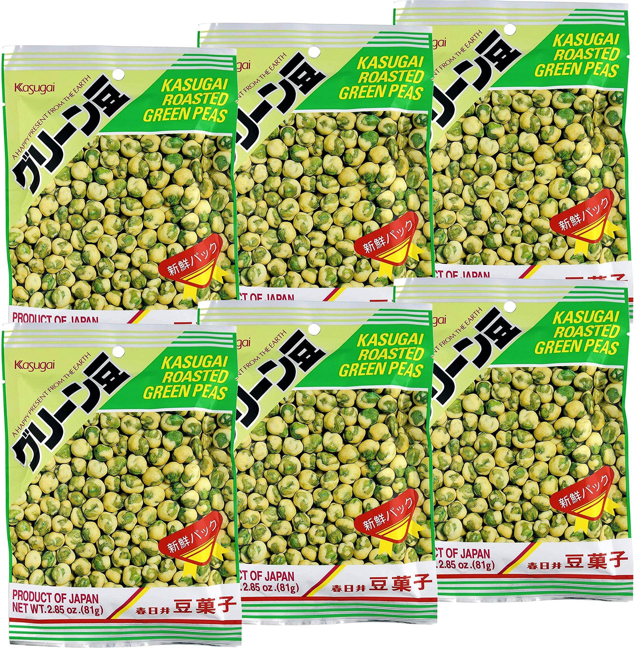 Roasted Green Peas - 3.35oz [Pack of 6] by Kasugai