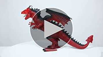 Betheaces Remote Control Dinosaur,Dragon Toy for Kids Boys Girls Red Dragon F...