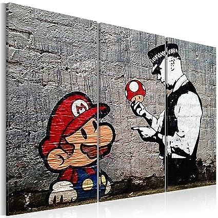 Murando Cuadro 120x80 Cm Banksy Cuadro Su Lienzo Tejido No