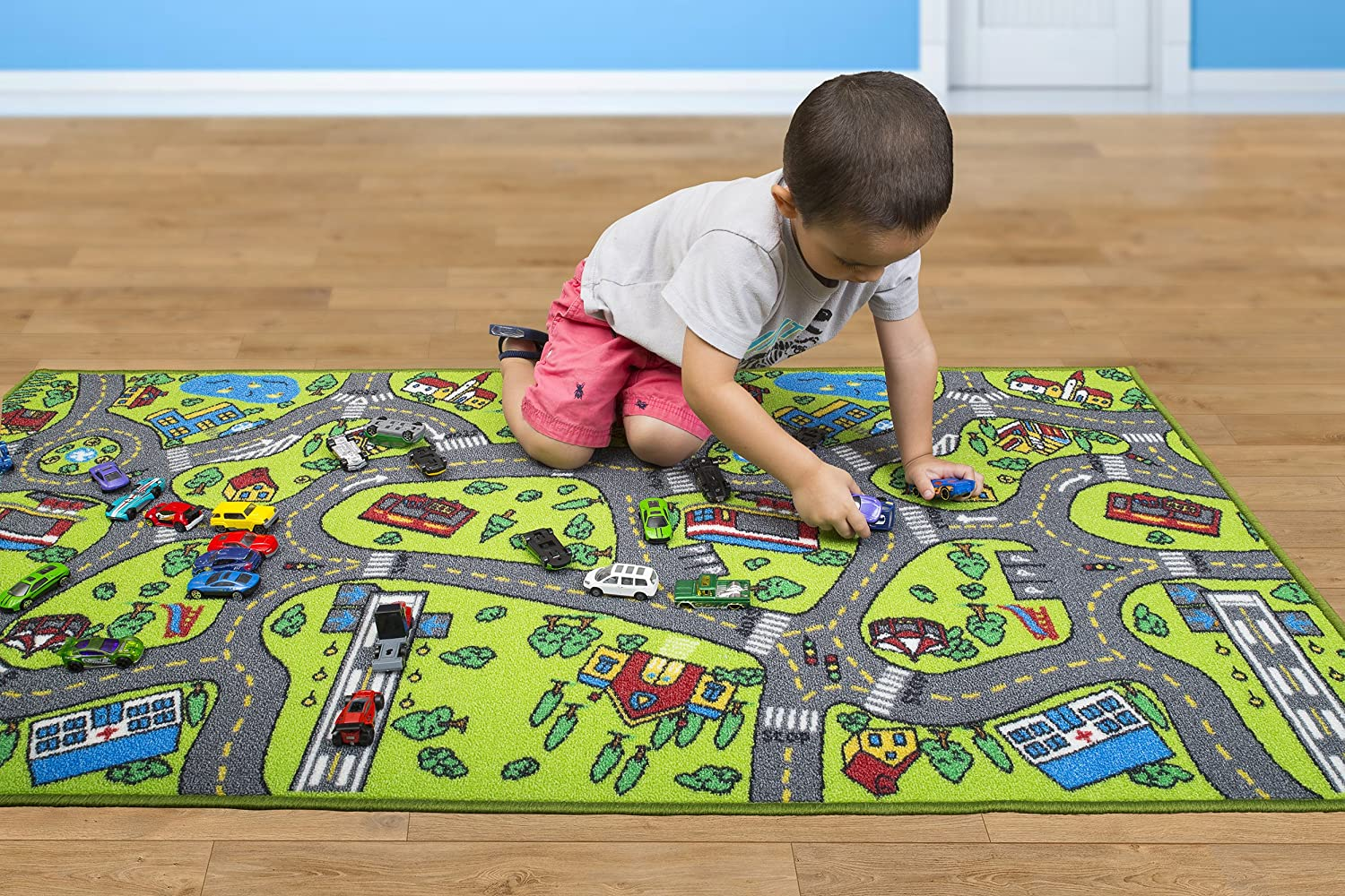 kids carpet play mat toy car city rug educational road traffic driving large 694991924126 ebay. Black Bedroom Furniture Sets. Home Design Ideas