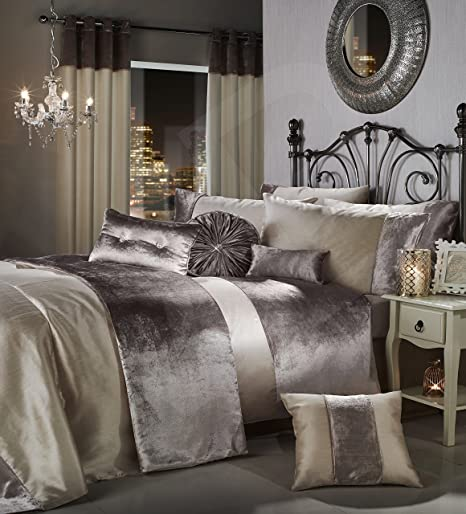 gran reno luxury crushed velvet bedding bedroom collection by viceroybedding mink double duvet cover set - Velvet Bedding
