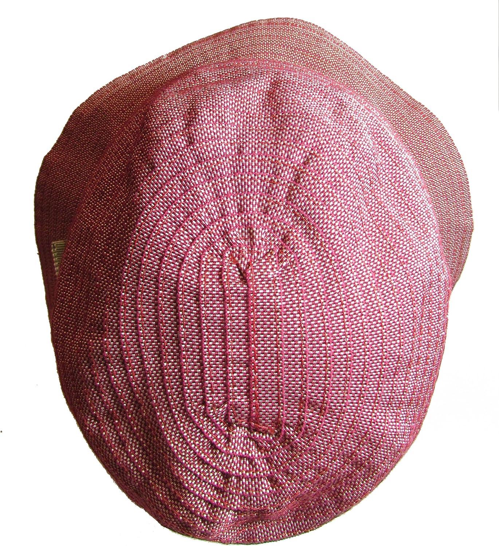 Medium Grevi Mens Woven Ribbon Contrast Band Hat Red