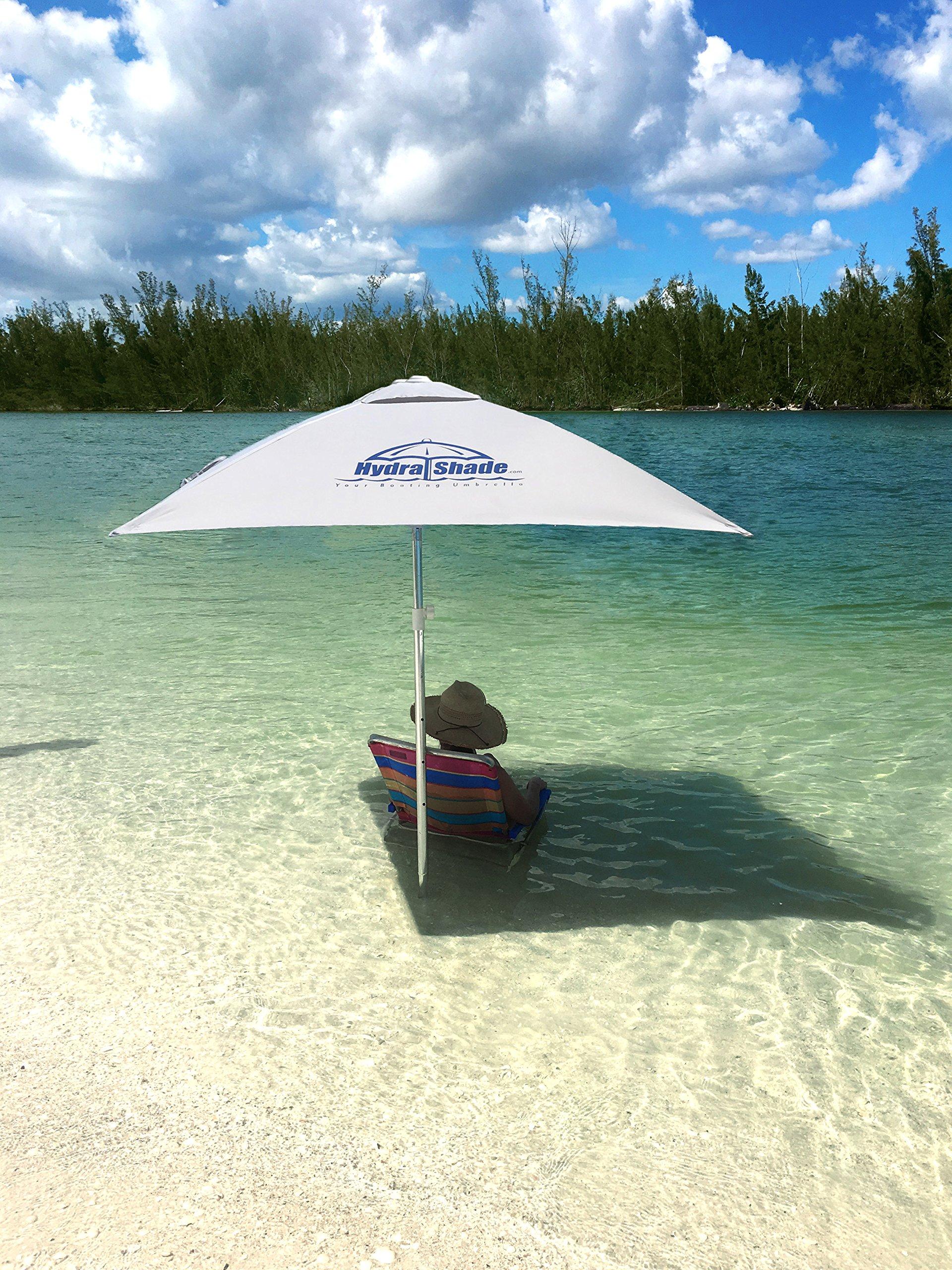 Hospitality Rattan XL-150 Hydra Shade 8' Square Boating & Beach Umbrella Kit, White by Hospitality Rattan (Image #5)