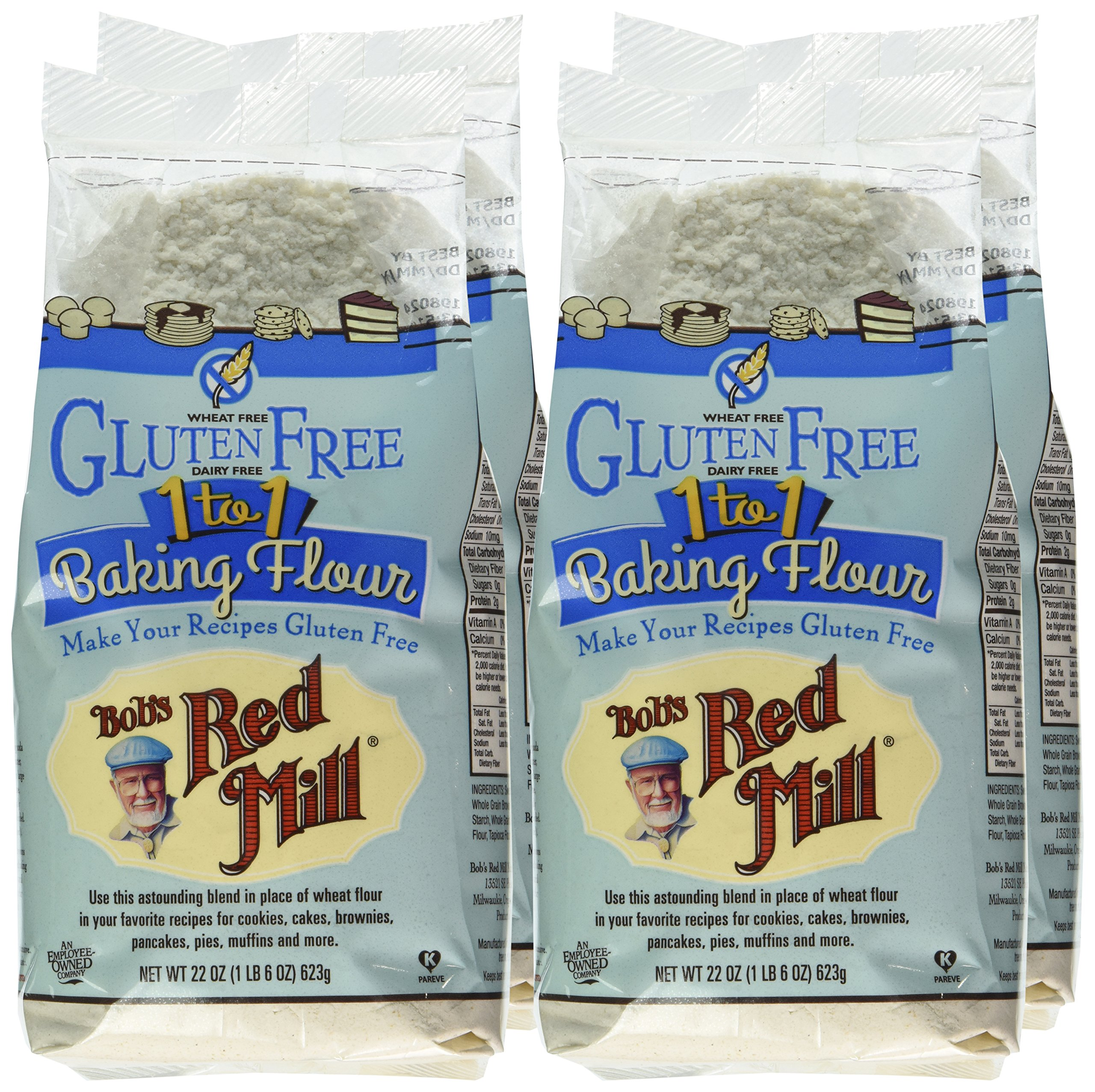 Bob's Red Mill Gluten Free 1-to-1 Baking Flour, 22 Ounce (Pack of 4) by Bob's Red Mill (Image #3)