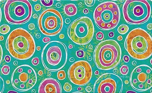 Toland Home Garden Dizzy Dots 18 x 30 Inch Decorative Dot Floor Mat Colorful Doormat