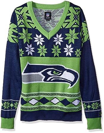 Amazon.com   NFL Women s V-Neck Sweater acfe35a34