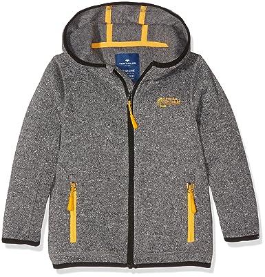 TOM TAILOR Kids Jungen Jacke Knit Look Fleece Jacket, Grau (Medium Grey  Melange 2482 295bd09bdc