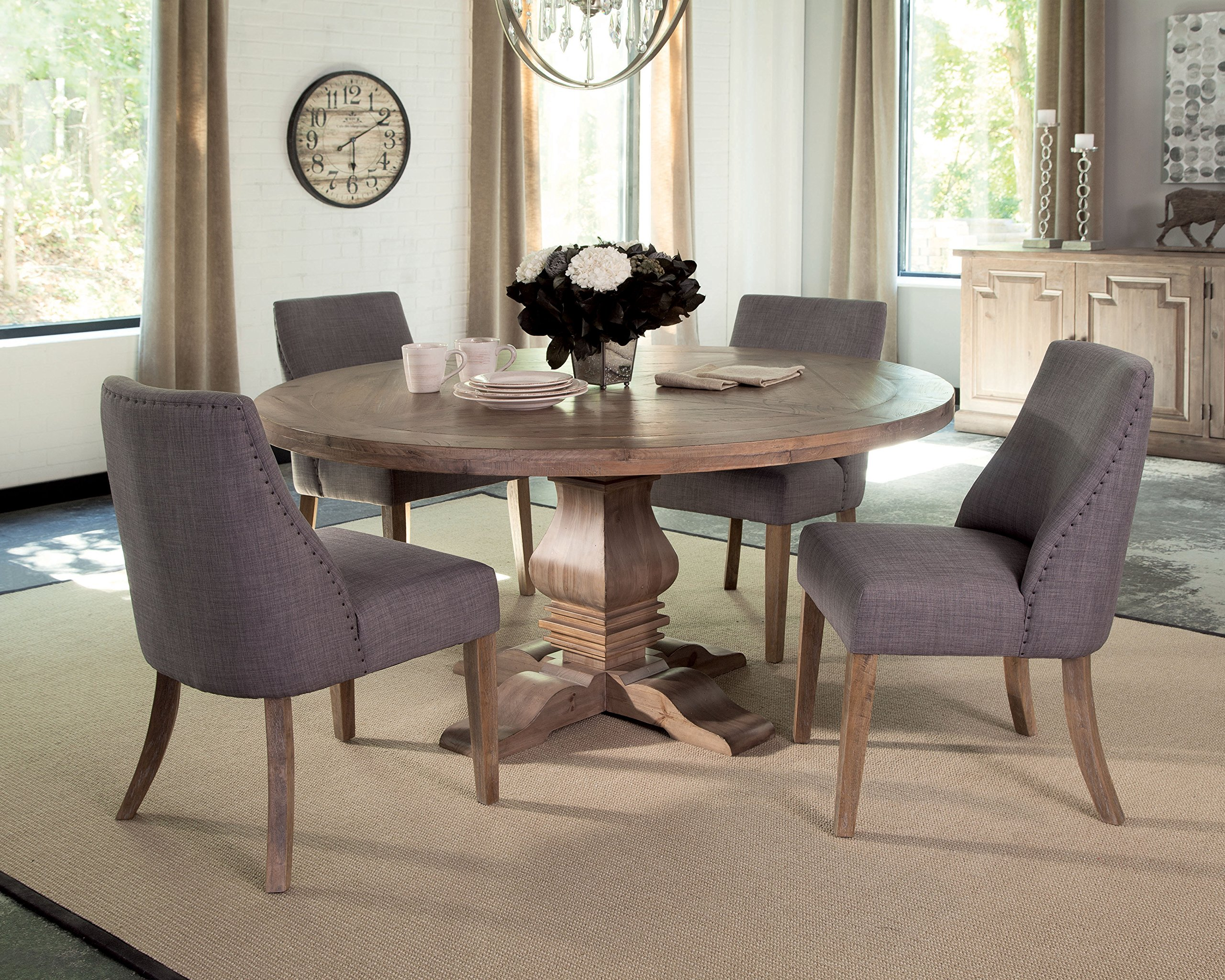Donny Osmond Home Dining Chair/Antonelli Collection, Gray, Not Applicable, Fabric