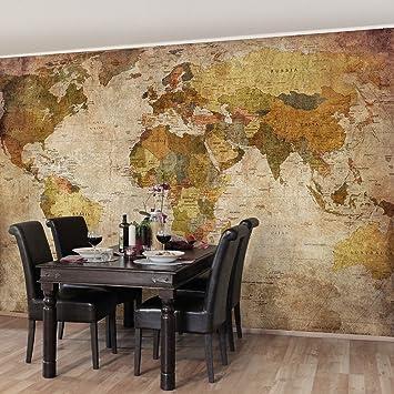 Apalis Vliestapete - Weltkarte - Fototapete Breit | Vlies Tapete Wandtapete  Wandbild Foto 3D Fototapete für Schlafzimmer Wohnzimmer Küche | Größe ...