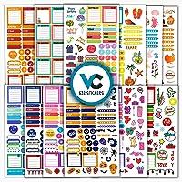 Planners Calendars Organize Planner Journals Calendars,Monthly Weekly Daily Planner Sticker Decorative Designer Stickers Accessories for Bullet Journals Konsait 24Sheets 1380 Planner Stickers