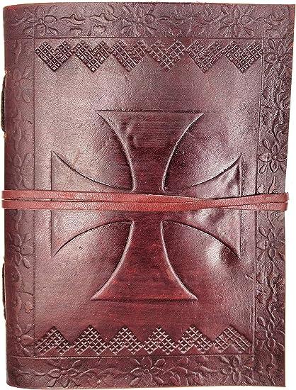 fermoir m/étal papier premium vintage journal arbre de Vie Celte bloc notes 13cm X 17cm livre Carnet Kooly Zen cuir v/éritable