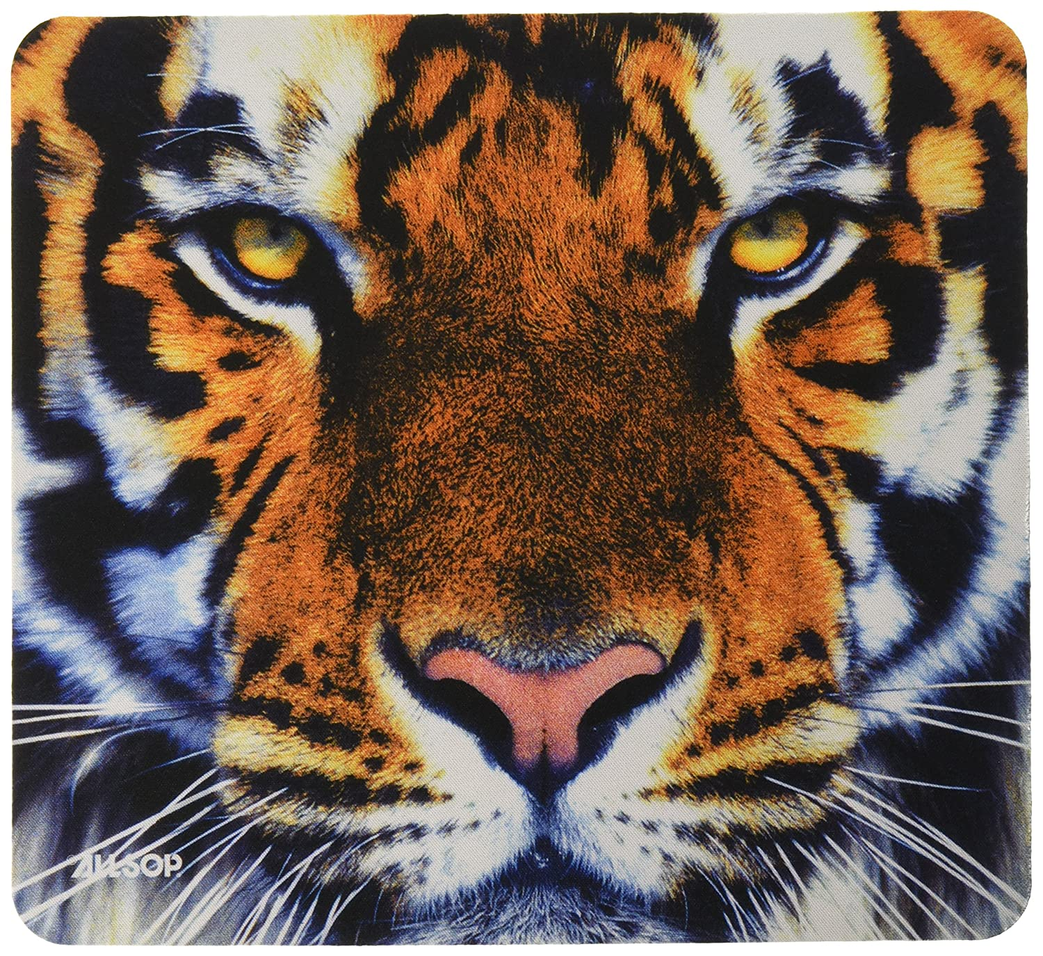 Allsop Nature's Smart Mouse Pad Tiger 60-Percent Recycled Content, Anti-Microbial (30188) Desk Accessories