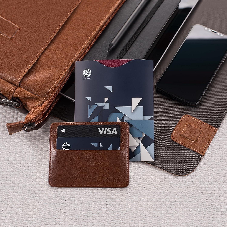 ... RFID Y 2 Fundas De Pasaporte De Regalo, con Certificación Alemana (TUV) | Anti Robo De Información | Una Tarjeta A Cada Lado De La Cartera Protege 360º ...