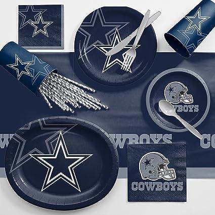 Creative Converting Dallas Cowboys Ultimate Fan Party Supplies Kit, Serves 10