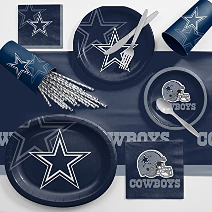 b2ffc5491e0 Amazon.com: Creative Converting Dallas Cowboys Ultimate Fan Party Supplies  Kit, Serves 8: Toys & Games