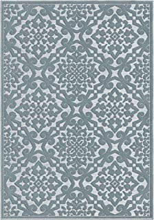"product image for Orian Rugs Boucle' Lansing Harbor Area Rug, 7'9"" x 10'10"", Blue"