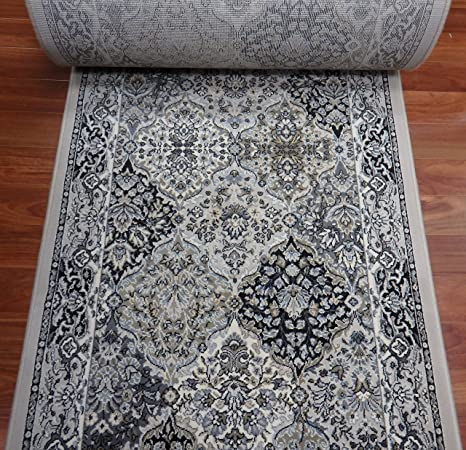 Genial Rug Depot 178498 Traditional Stair Runners And Hall Runners   26u0026quot; Roll  Runner   Grey