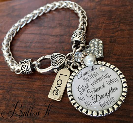 e218e09026a69 Amazon.com: Mother daughter link bracelet, Mother's day gift ...