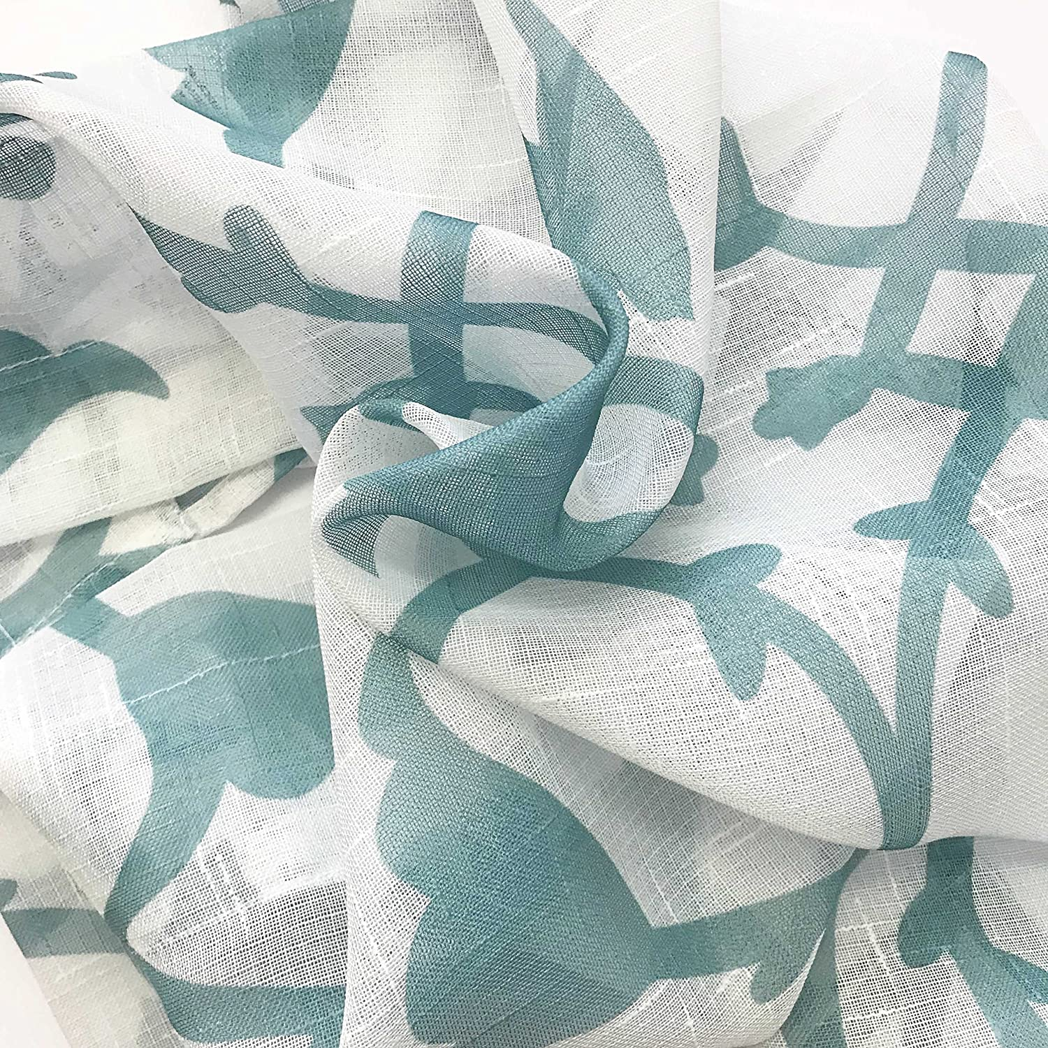 Flower /& Vine Design Shower Curtain 72 L Bathroom and More Collection SHEER Fabric Shower Curtain White with Blue Bird