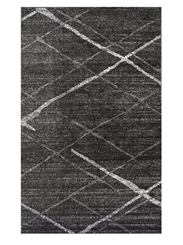 Nuloom 5 x 8 Thigpen Rug in Dark Gray