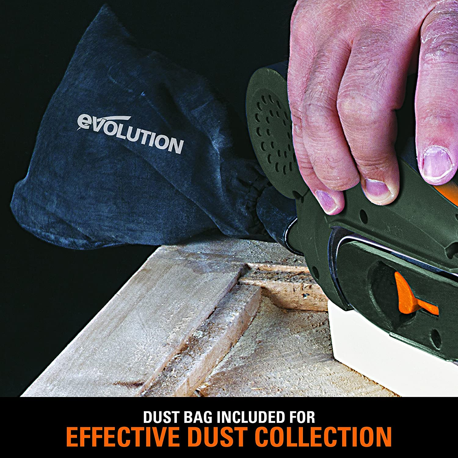 Evolution Power Tools with Pack of 3 Sanding Belts 120 Grit