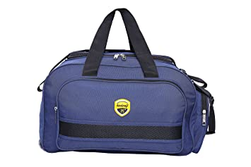 Hard Craft Unisex Nylon Blue Lightweight Waterproof Luggage Travel Duffel  Bag with Extra Compartments and Roller c4b10fecd9