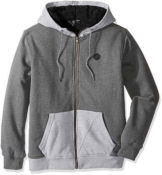 Volcom Mens Stone Zip Hoodie Sweatshirt