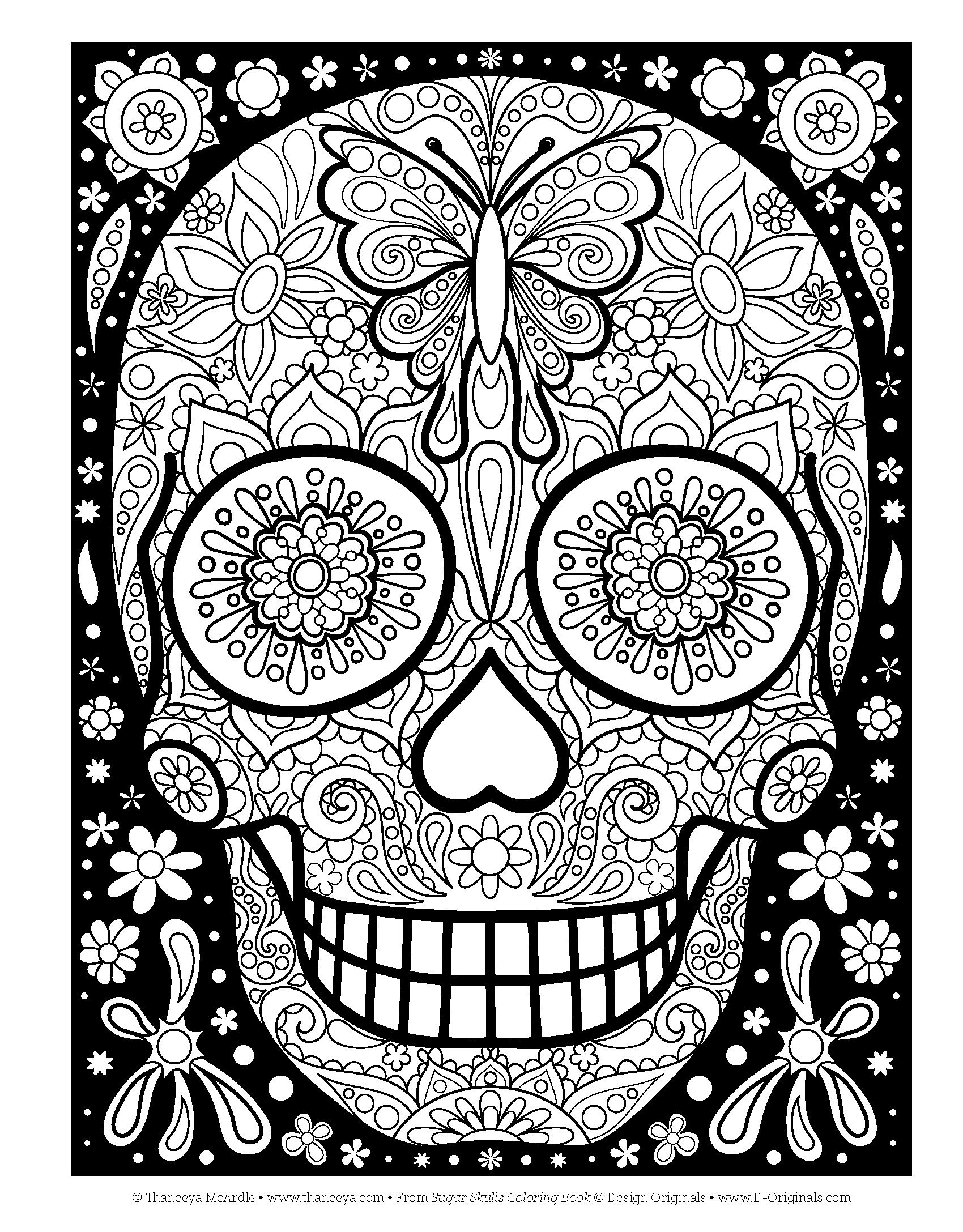 Amazon Com Sugar Skulls Coloring Book Coloring Is Fun Design