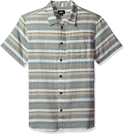 ONeill Hombre Manga Corta Camisa - Beige - Medium: Amazon.es ...