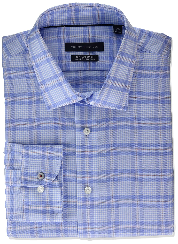c0676b2c6 Online Cheap wholesale Tommy Hilfiger Mens Dress Shirt Stretch Slim Fit  Plaid Dress Shirts Suppliers