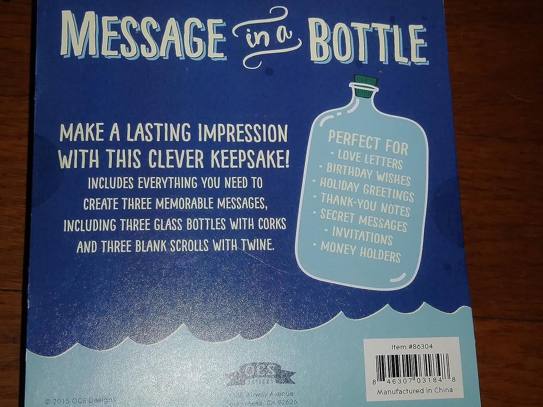 OCS Designs Message in a Bottle Keepsake