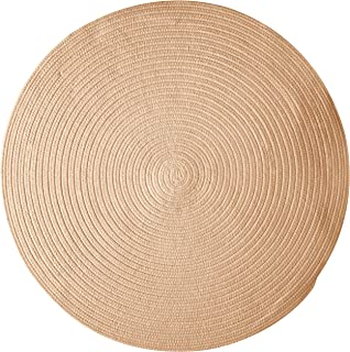 product image for Colonial Mills Bristol Polypropylene Braided Round Rug, 6-Feet, Oatmeal