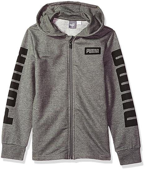 bbd6f155a6cd Puma Boys  Rebel Full Zip Hoodie  Amazon.in  Clothing   Accessories