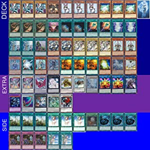 YUGIOH Tournament Ready Blue-Eyes Deck with Complete Extra & Side Deck and Exclusive Phantasm Gaming Token + Deck Box & 100 Sleeves