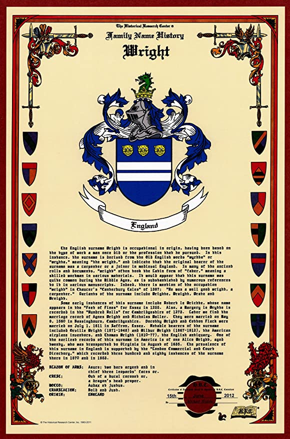 Amazon Com Wright Coat Of Arms Crest And Family Name History Meaning Origin Plus Genealogy Family Tree Research Aid To Help Find Clues To Ancestry Roots Namesakes And Ancestors Plus Many Other Surnames At